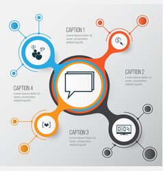 Advertising icons set collection of ppc vector