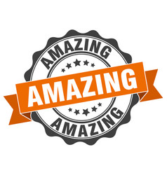Amazing stamp sign seal vector