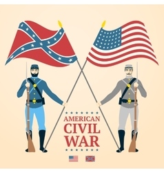American Civil War - southern and vector