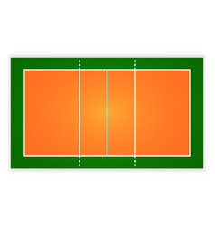 An of an aerial view volleyball court eps 10 vector