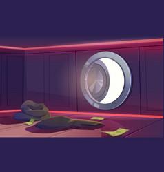 Bank vault room with open door economics crisis vector