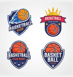 Basketball logo template vector