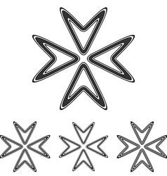 Black line arrow logo design set vector