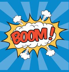 Boom wording sound effect vector