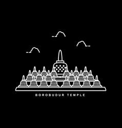 borobudur temple heritage building in indonesia vector image