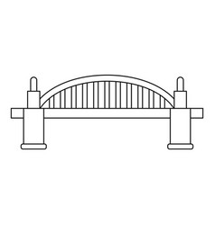 Bridge icon outline style vector