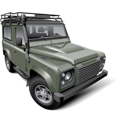 British off road utility vehicle vector