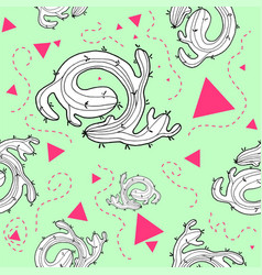 cactus seamless pattern design vector image