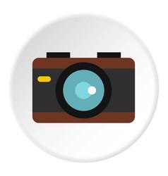 camera icon circle vector image