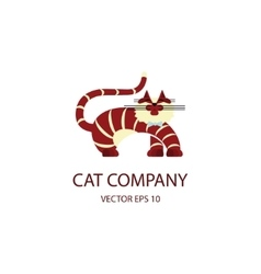 Cat logo template vector image