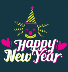 Clown with Happy New Year Text vector image