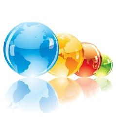 Color globe vector image