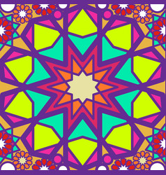Colorful stained glass abstract seamless vector