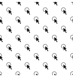 Computer cursor waiting pattern simple style vector