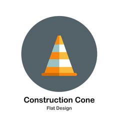 construction cone flat icon vector image