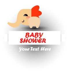 Cute baby shower with elephant vector