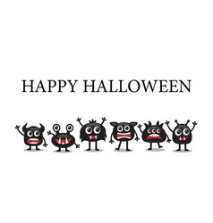 cute monsters for halloween vector image