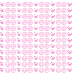 cute seamless pattern with rose cartoon hearts vector image