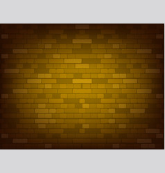 dark yellow brick wall realistic vector image
