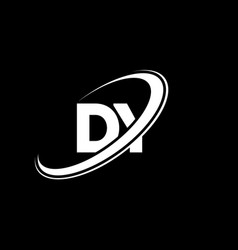 dy d y letter logo design initial letter dy vector image