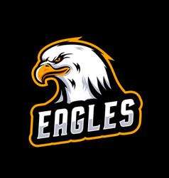 Eagle mascot logo vector