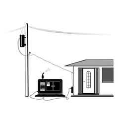 emergency supply of the house with electricity vector image
