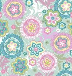 Ethnic flowers vintage vector