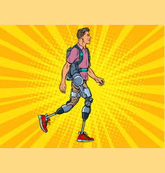 exoskeleton for disabled a man legless vector image