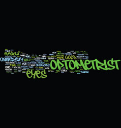 Find an optometrist text background word cloud vector
