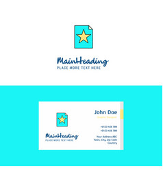 flat text file logo and visiting card template vector image