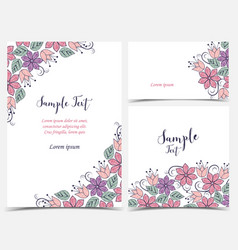 floral greeting cards vector image