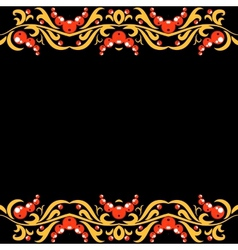 Floral russian pattern vector image