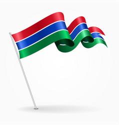 Gambian pin wavy flag vector