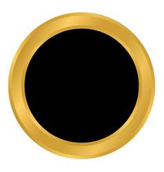 Golden empty button vector