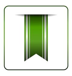 Green bookmark tag label vector