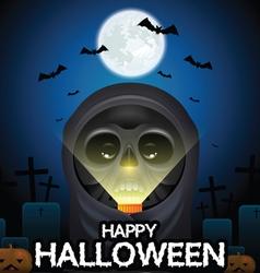 Halloween skull vector