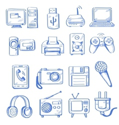 Hand draw electronic vector