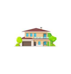 home or house villa building bungalow condominium vector image