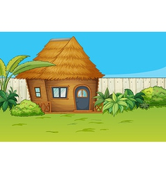 House in beautiful nature vector image