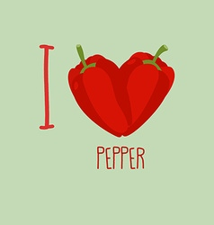I love pepper Heart of the sweet peppers vector image