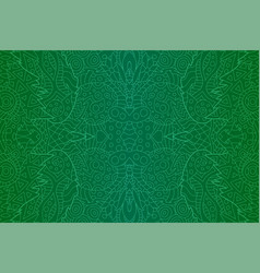 image with green mystic abstract seamless pattern vector image