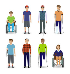 Invalid people concept group of eight different vector