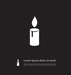isolated lightup icon candlelight element vector image