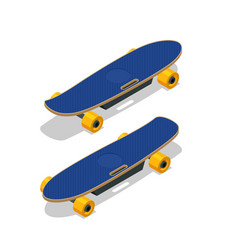 isometric electric skateboard or longboard vector image