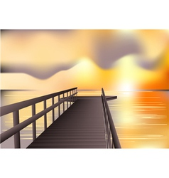 jetty sunrise vector image