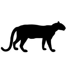 Leopard silhouette vector