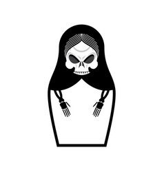 matrioshka skull russian folk doll death national vector image