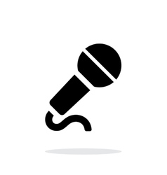 Microphone with cable icon on white background vector