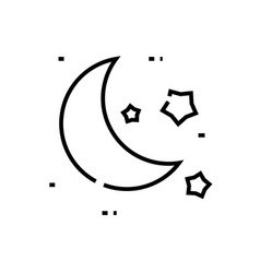 Moonlight line icon concept sign outline vector
