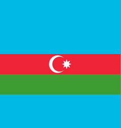 National flag azerbaijan with official colors vector